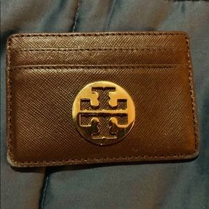Tory Burch Accessories - Tory Burch Card Holder Brown with Gold Logo